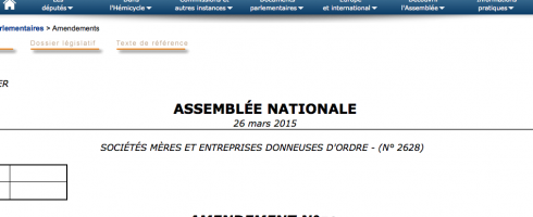 La revendication entre à l'Assemblée nationale !