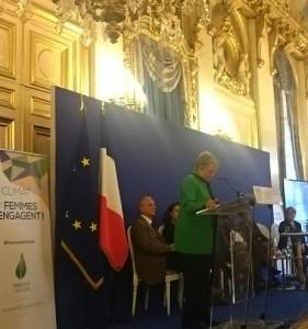Catherine Coutelle, conférence Femmes et climat , octobre 2015, Paris