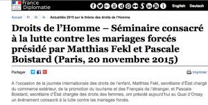 Droits de l'homme et mariage forces