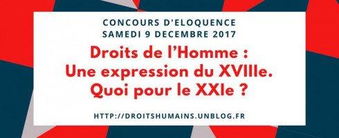 Concours d'éloquence 2017: les textes et les photos