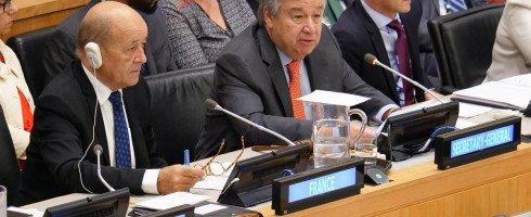 Jean-Yves Le Drian parle de «droits humains» devant l'Assemblée générale des Nations unies