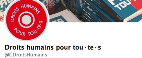 Suivez nous sur Twitter : @CDroitsHumains